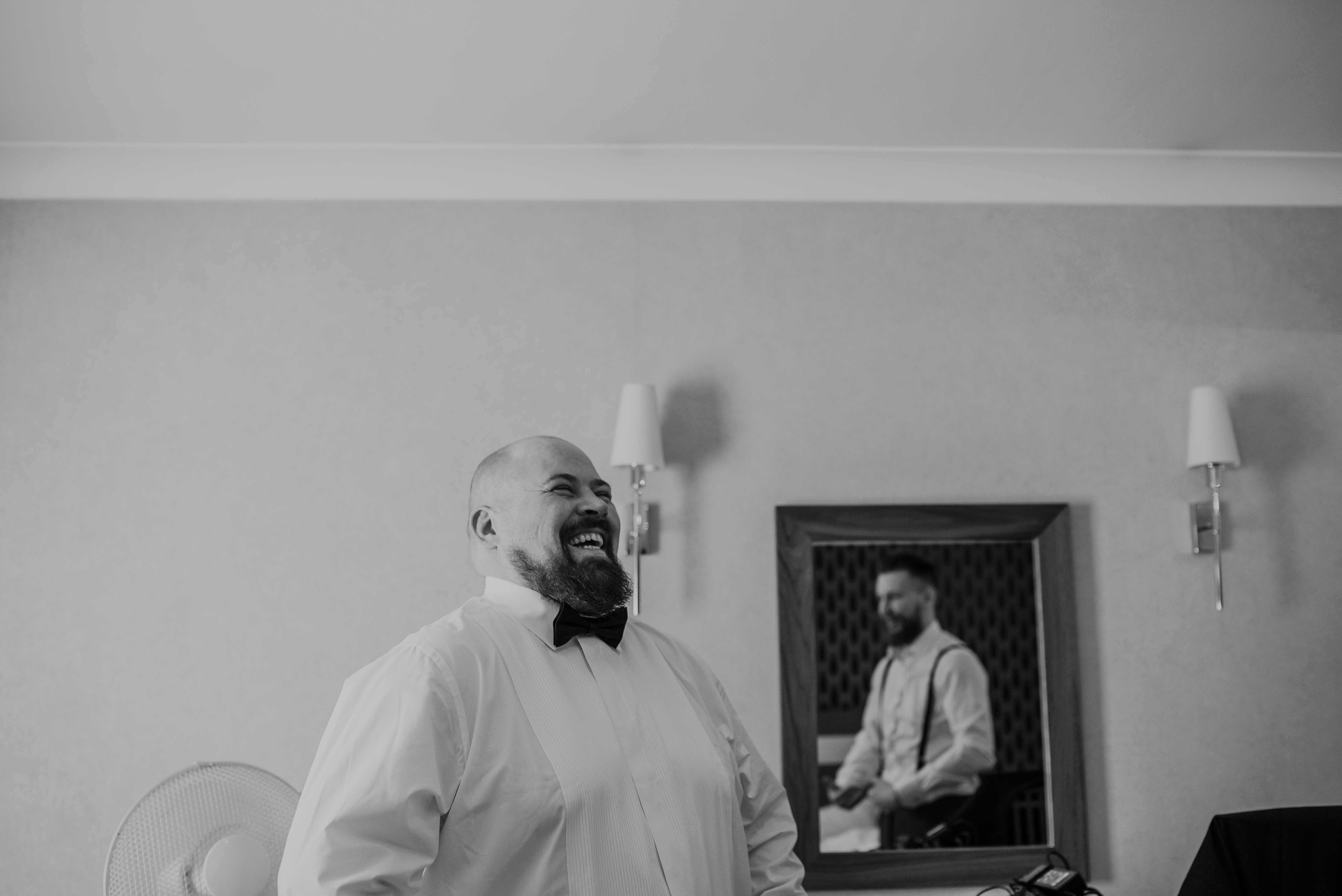 Groom prep at the Normans