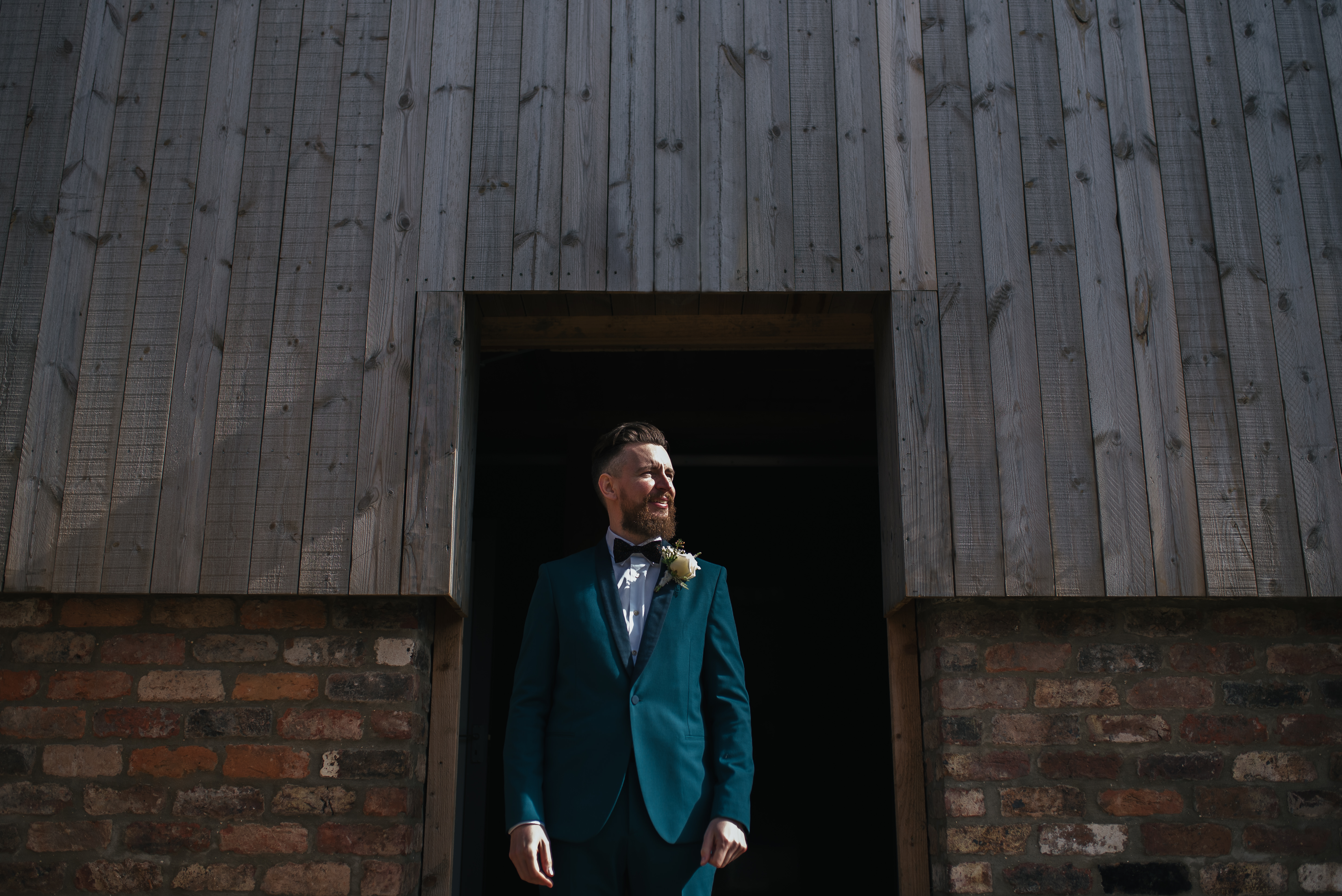 Groom at the Normans wedding 2019