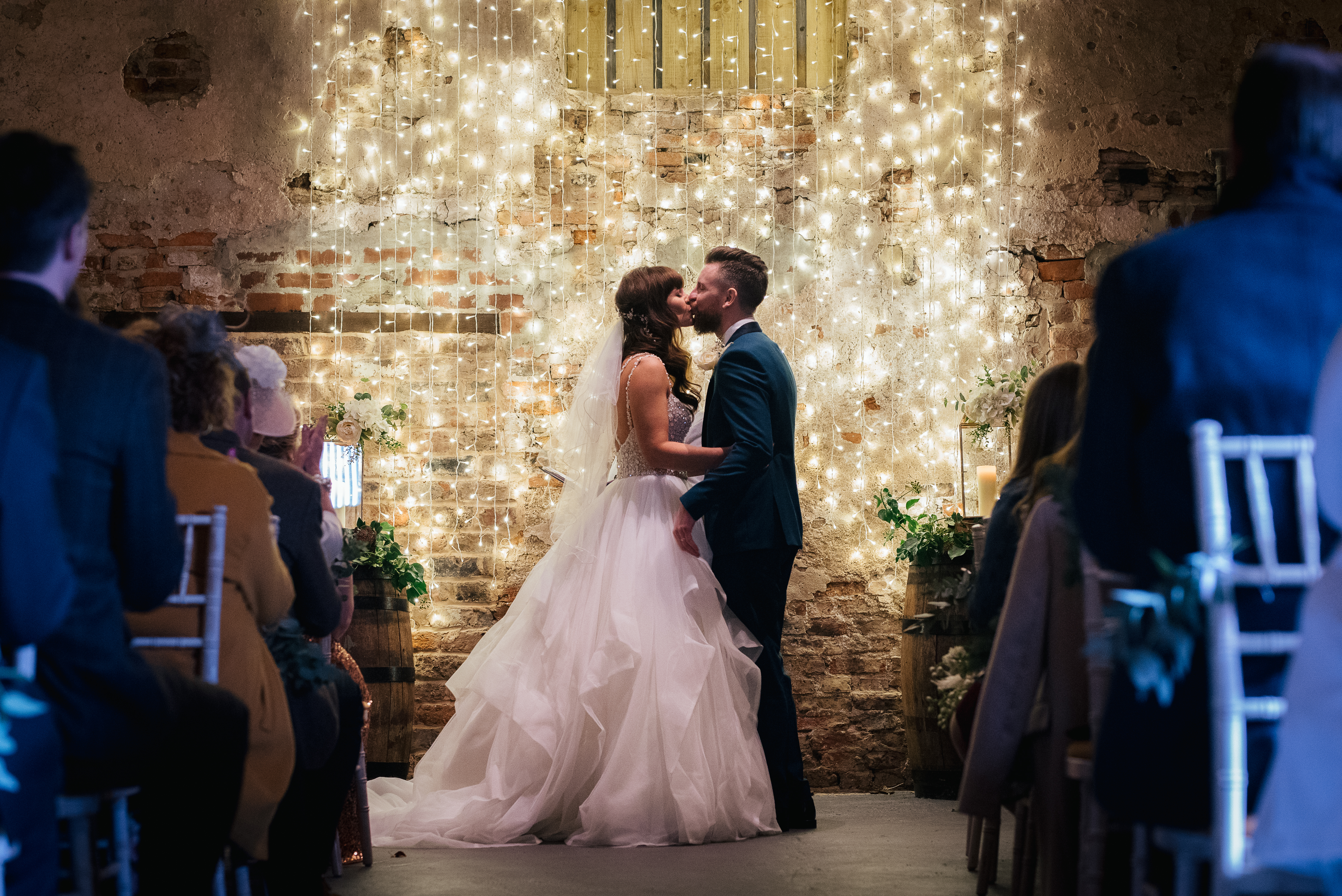 The Normans weddings first kiss
