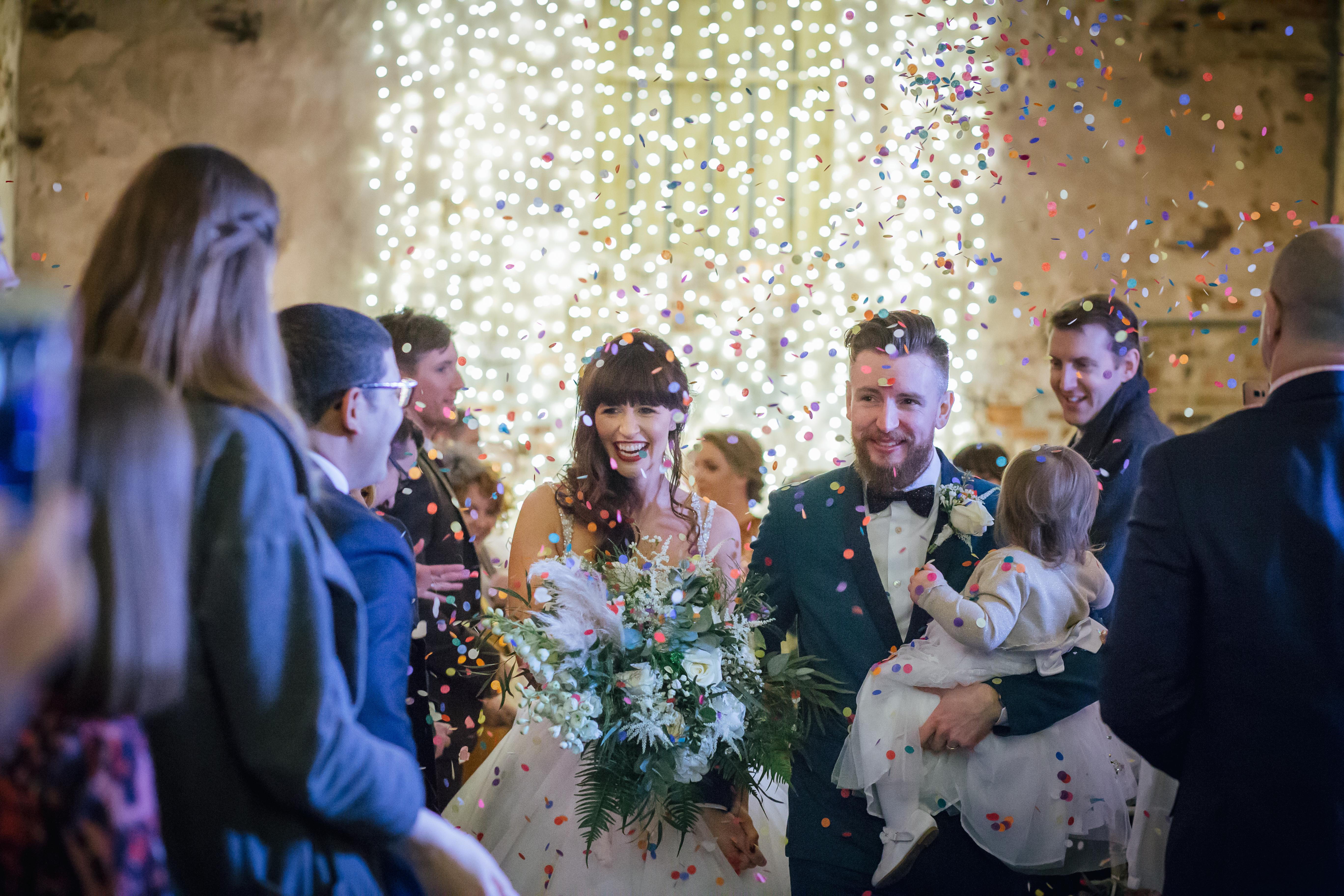 The Normans weddings confetti