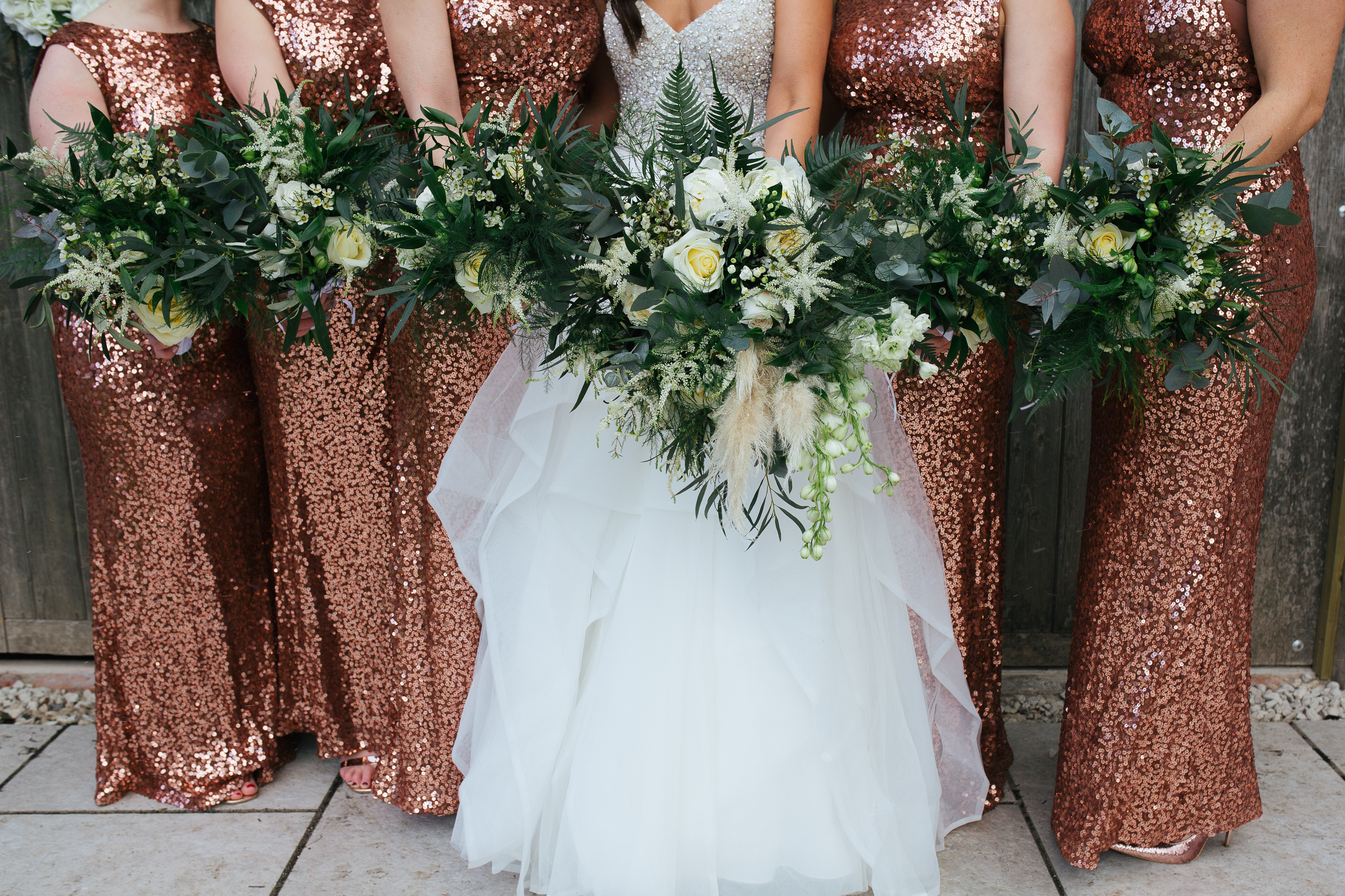 Stunning bridal party at the normans