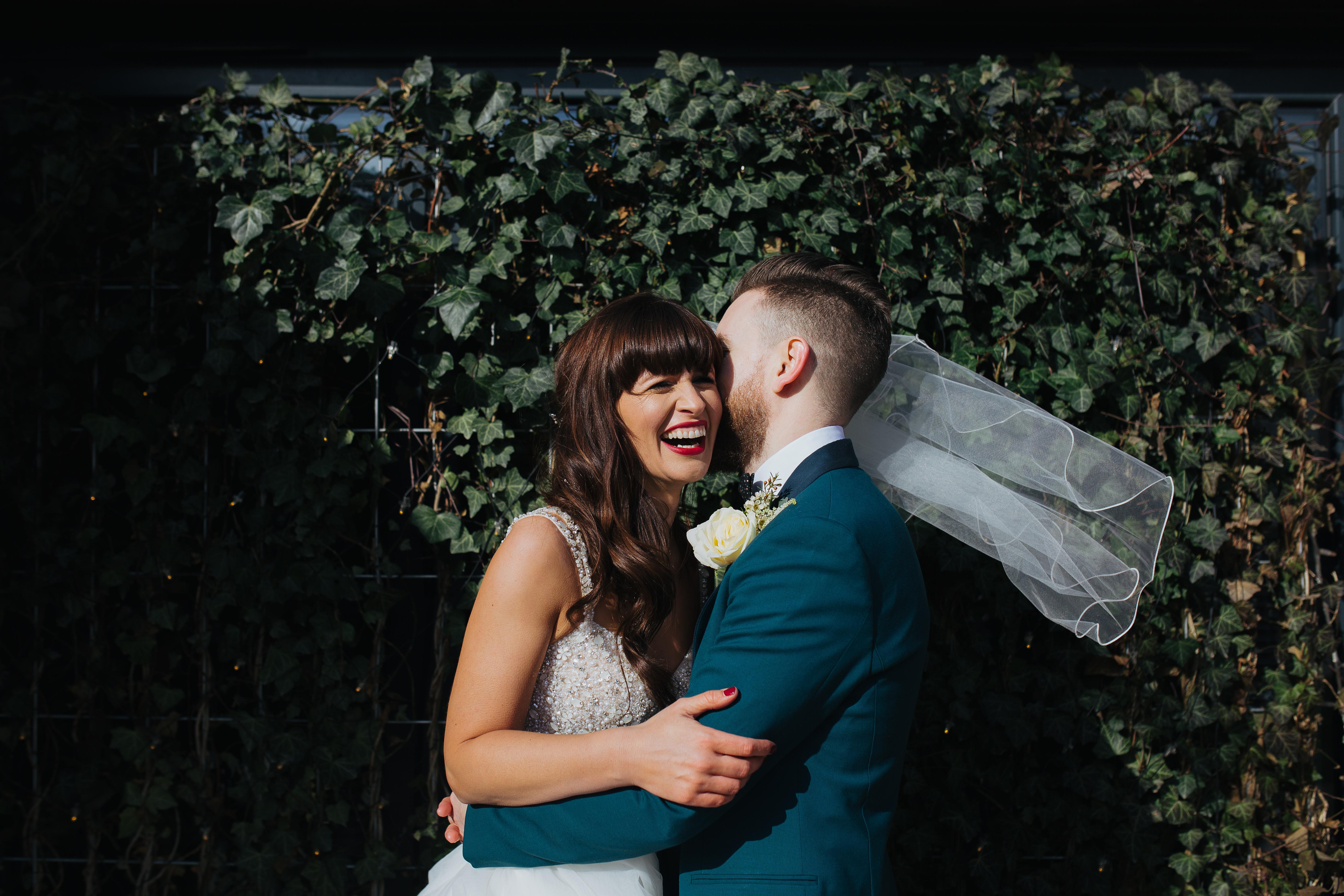 Couple having fun leeds weddings 2019