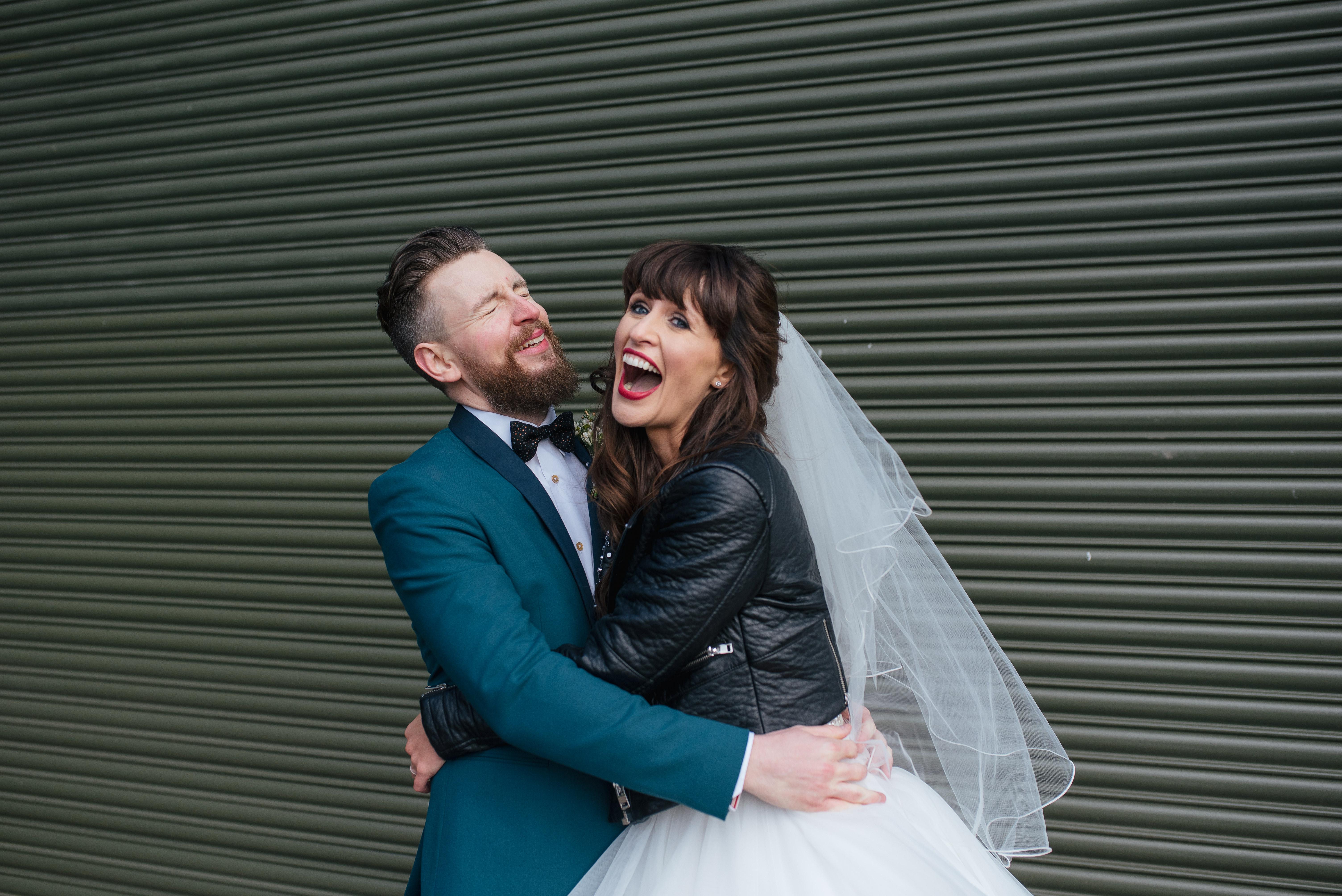 Micah Sottero and Midgley bride