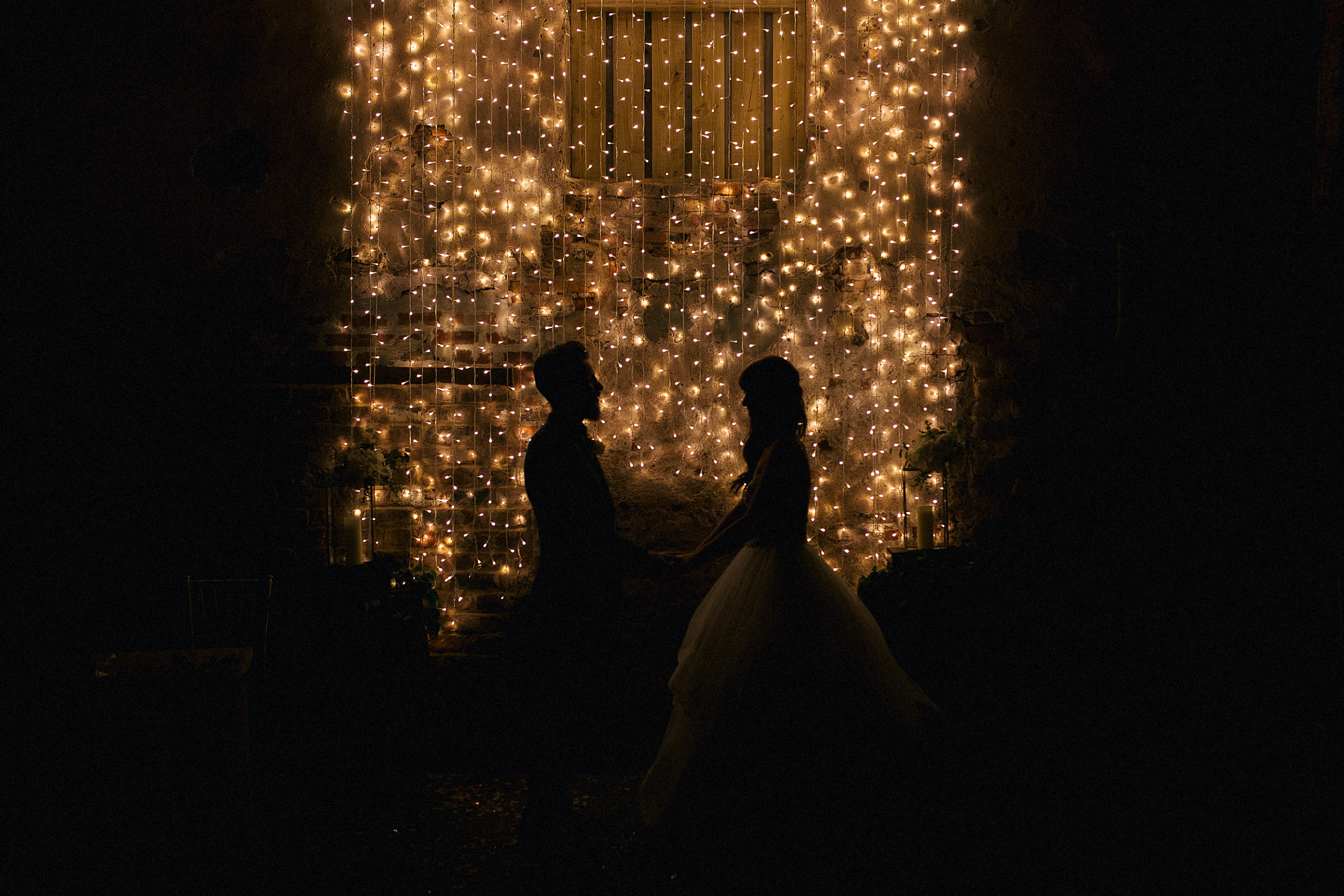 The Normans weddings fairy lights