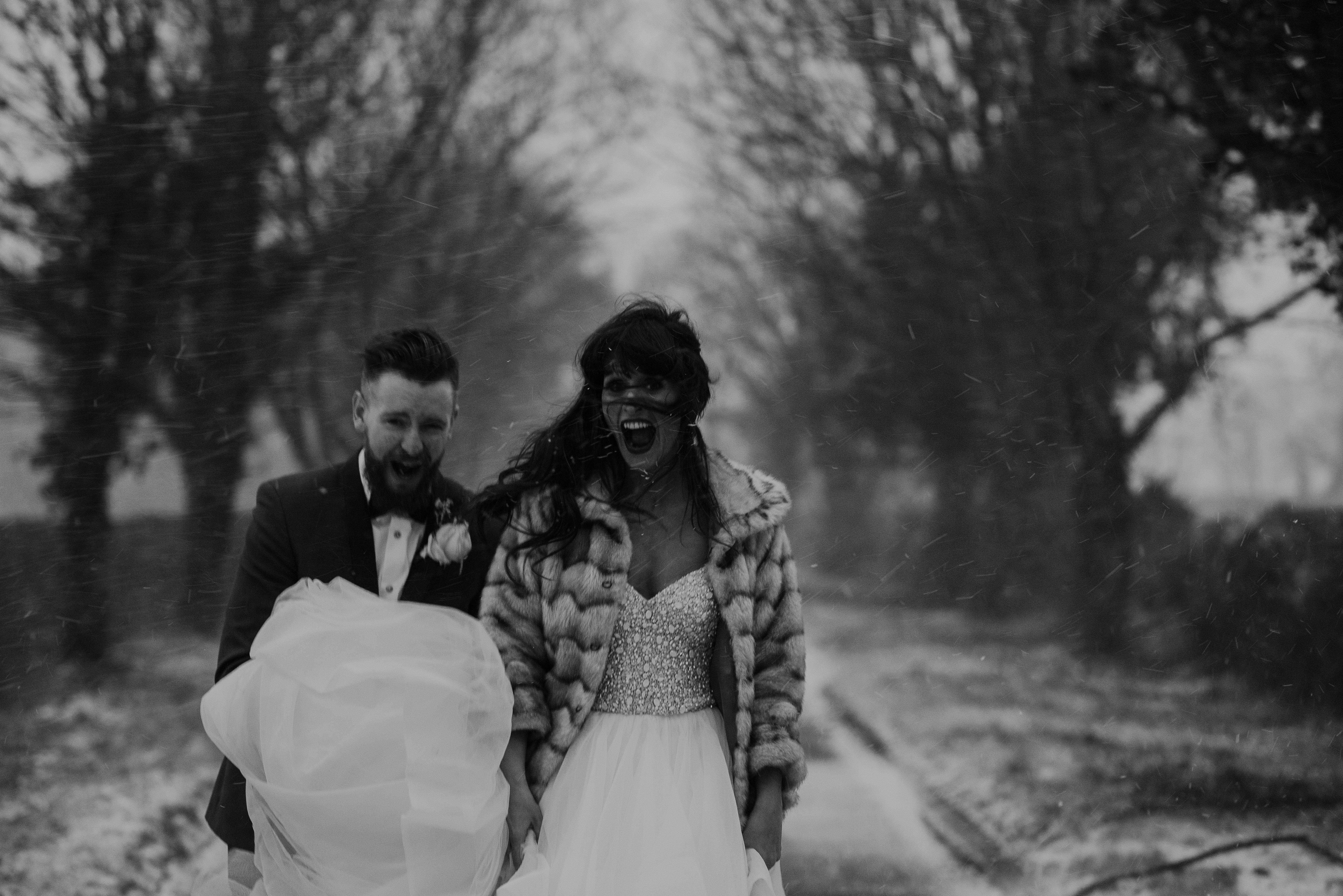 The normans wedding snow