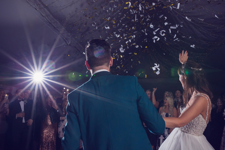 The normans wedding confetti cannon
