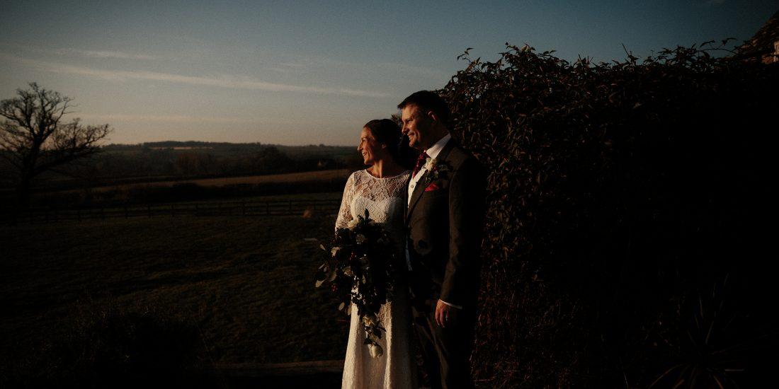 Winter wedding at Hyde House, Cheltenham